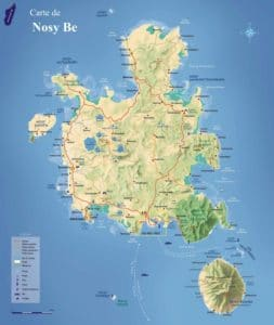 Nosy Be map