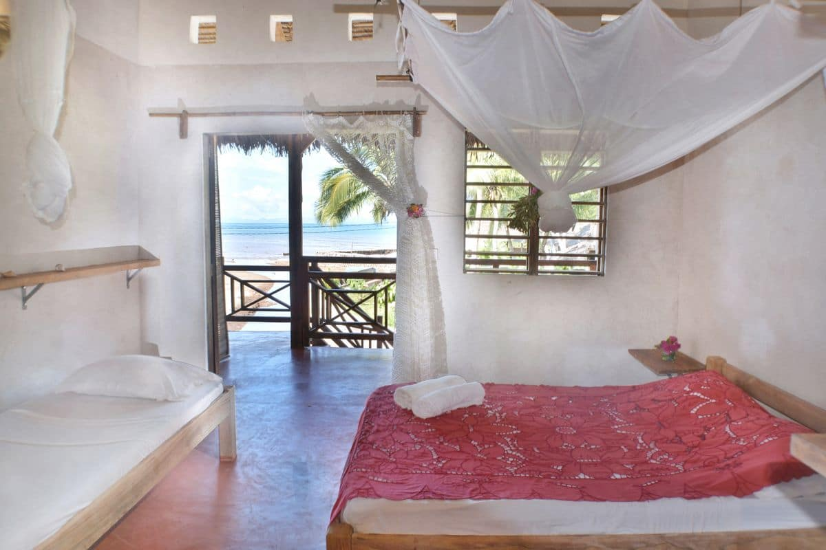 Chambre double hôtel Ylang à Nosy Be
