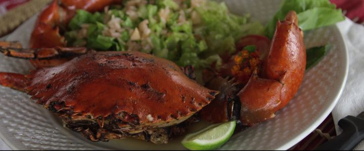 Plat crabe à Nosy Be